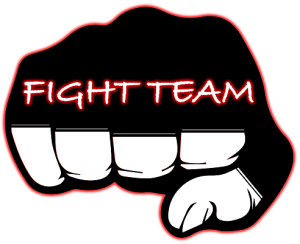 Fight Team Logo - Fist and Text (Circle) Jiu Jitsu Variant - Raster - For Black BG